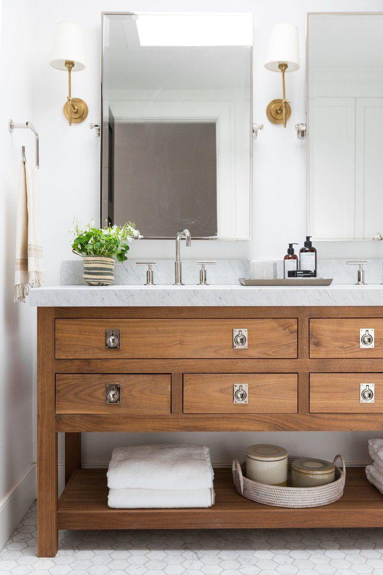 Gorgeus Natural Wood Bathroom Vanity With An Alluring Natural Palette Of Slate Marble Wood And Stylish Bathroom Minimalist Bathroom Design Minimalist Bathroom