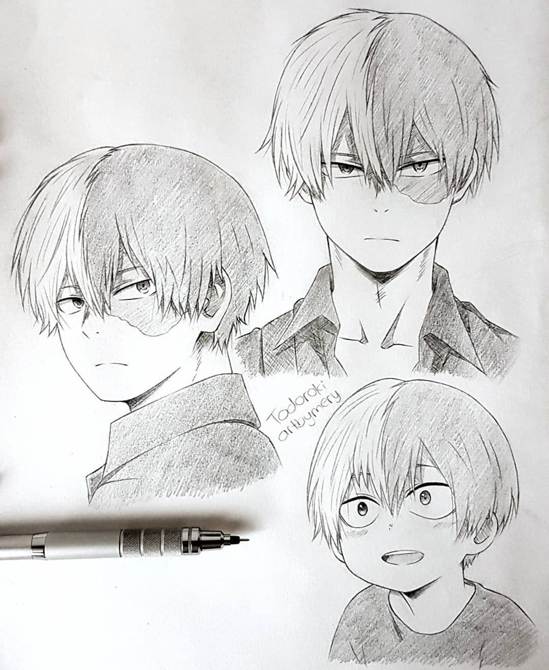 Todoroki Drawing Cute : todoroki, drawing, Todoroki, Sketches, Anime, Fanart, Drawing,, Character, Drawings, Tutorials