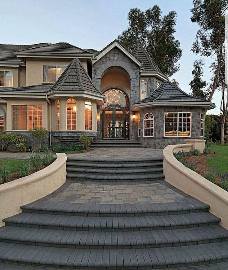 40 Fantastic Dream Home Exterior Design Ideas - #design #Dream #exterior #Fantastic #Home #house #Ideas #exteriordecor
