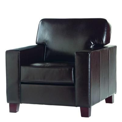Bon Home Decorators Collection Brexley Leather Club Chair In Espresso    GH 120202   The Home Depot
