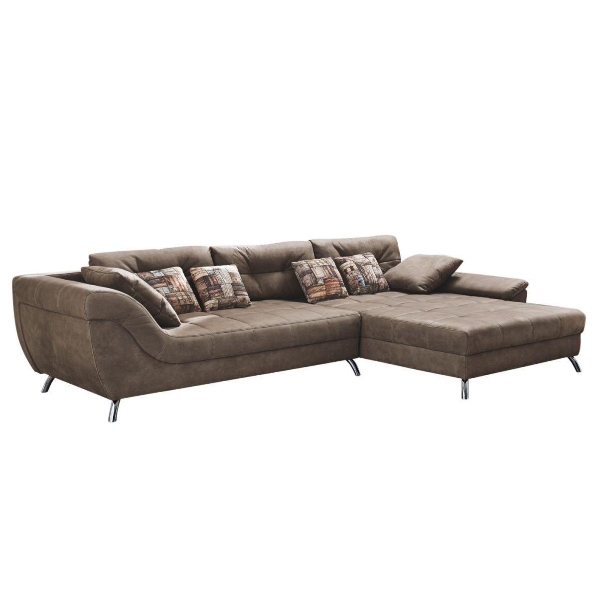 Genial Big Sofa Microfaser Das Beste Von Ecksofa Merizo - - Braun - Longchair