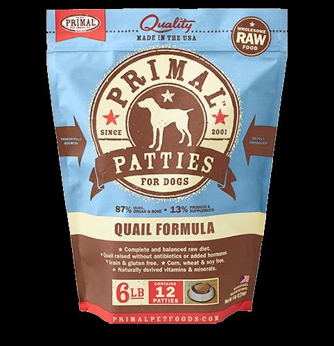 Raw Frozen Canine Quail Formula Organic pumpkin seeds