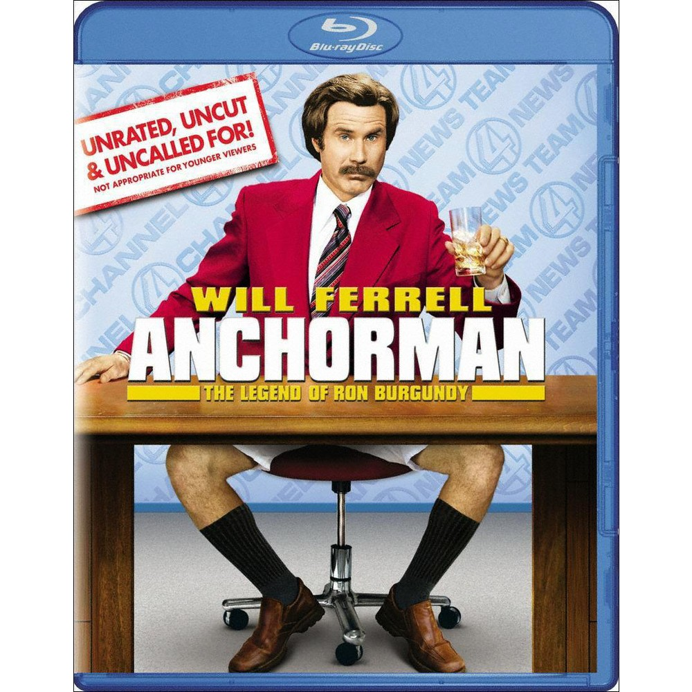 Anchorman The Legend Of Ron Burgundy Unrated Uncut Uncalled For Blu Ray In 2021 Ron Burgundy Anchorman Will Ferrell