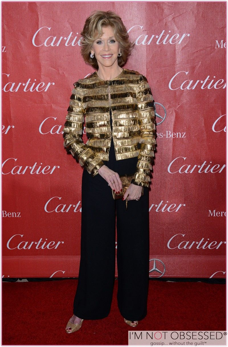 """Jane Fonda @ the Palm Springs International Film Festival, January 2013. This is Jane at age 76, she is absolutely my """"looking great at any age"""" hero."""