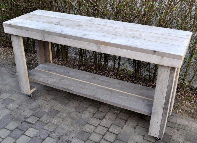 Sidetable Op Wielen.Tafel Sidetable Op Wielen Sidetable Tuin In 2019 Tafel