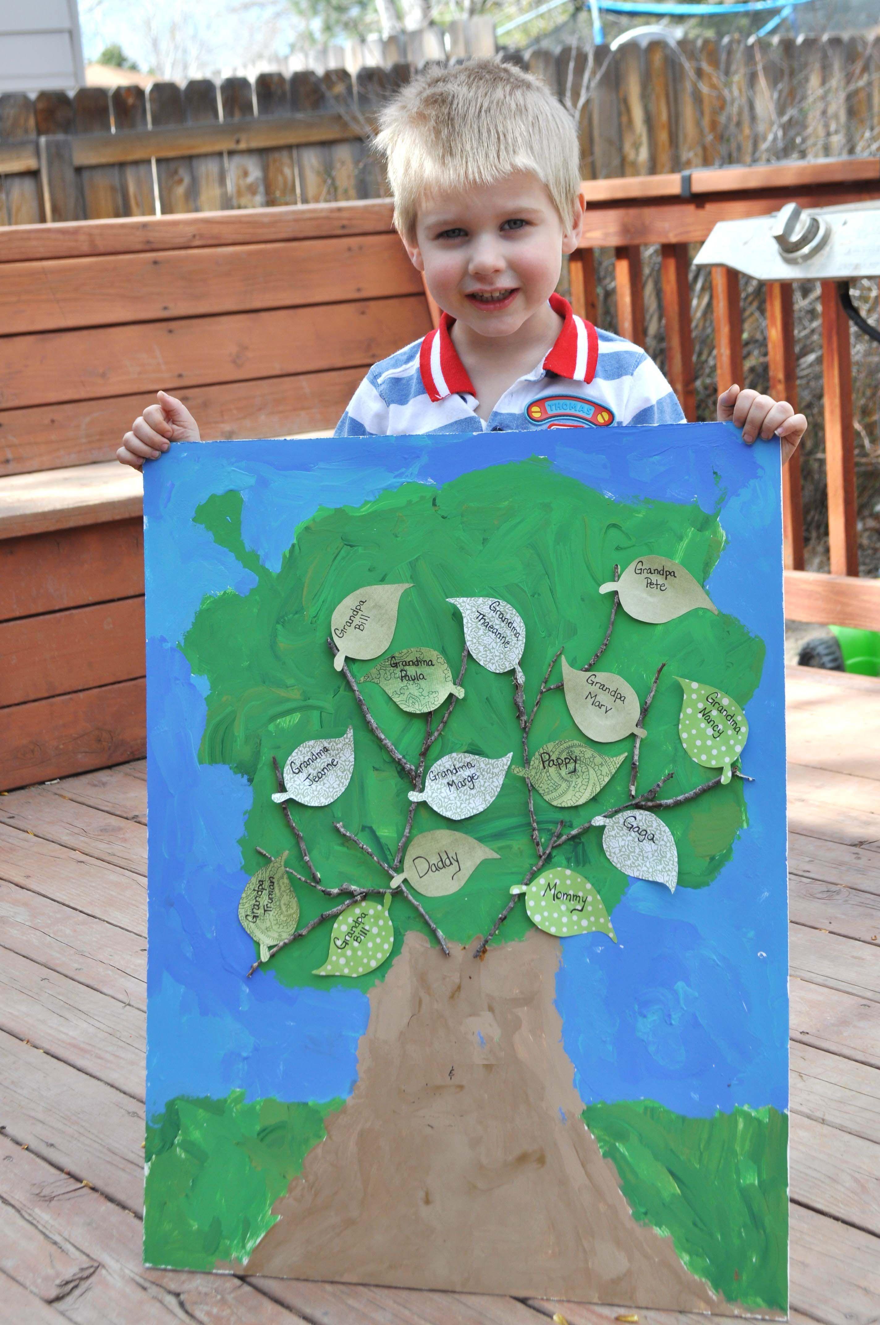 Fun Family Tree Craft Kids Ideas