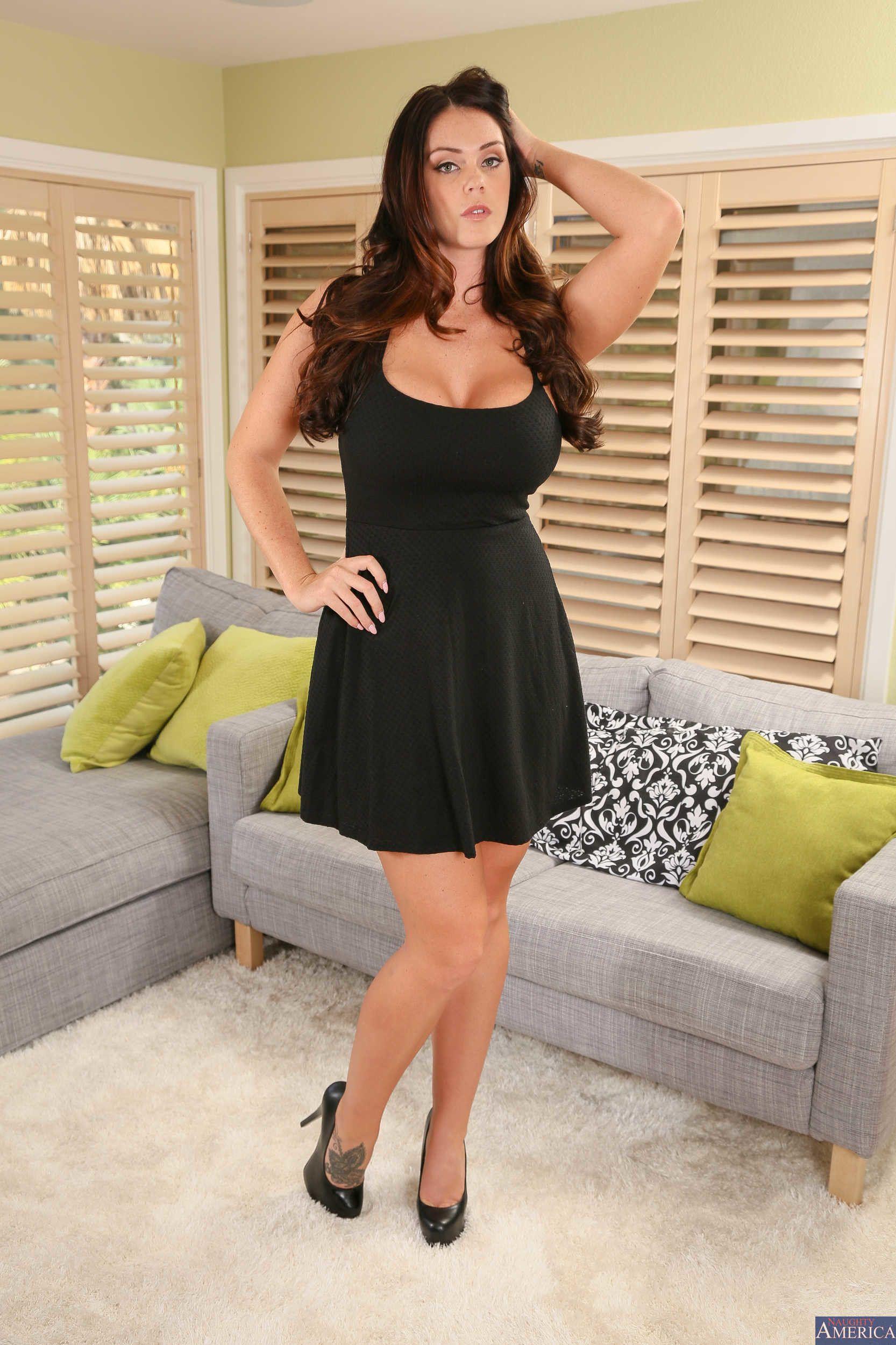 Alison Tyler black spaghetti strap dress