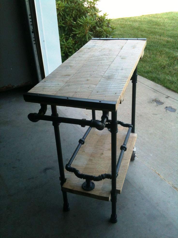 kitchen valet table iron pipe furniture pipe furniture rh pinterest com