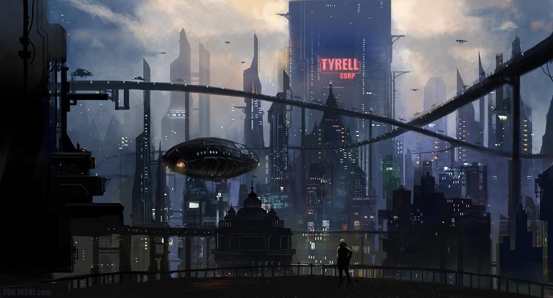 Cyberpunk High Tech Low Life Futuristic City Sci Fi Environment Blade Runner