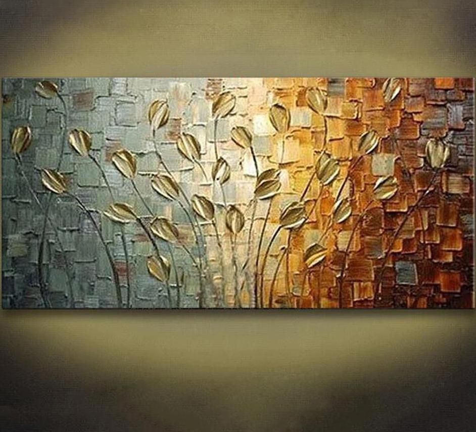 Handmade Texture Knife Flower Tree Abstract Modern Wall Art Oil Painting Canvas Home Wall Decor For Room Decoration Texture Painting On Canvas Modern Abstract Painting Abstract Painting