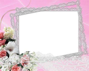 Wedding Frame On Pink Background Png Frame Pink Background Wedding Frames Rose Frame