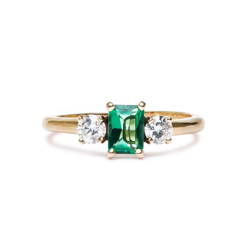 Vintage Emerald Engagement Ring | Taylorsville -Trumpet and Horn