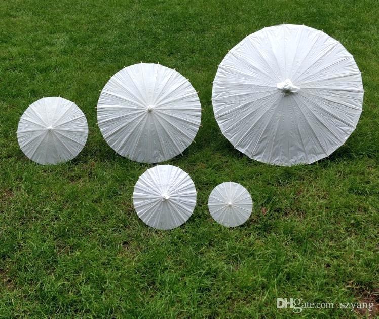 small paper parasols miniature children hand painted blank umbrella white art craft bridal wedding umbrellas have big medium sizes #smallumbrella