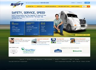This is a great transportation website design example for