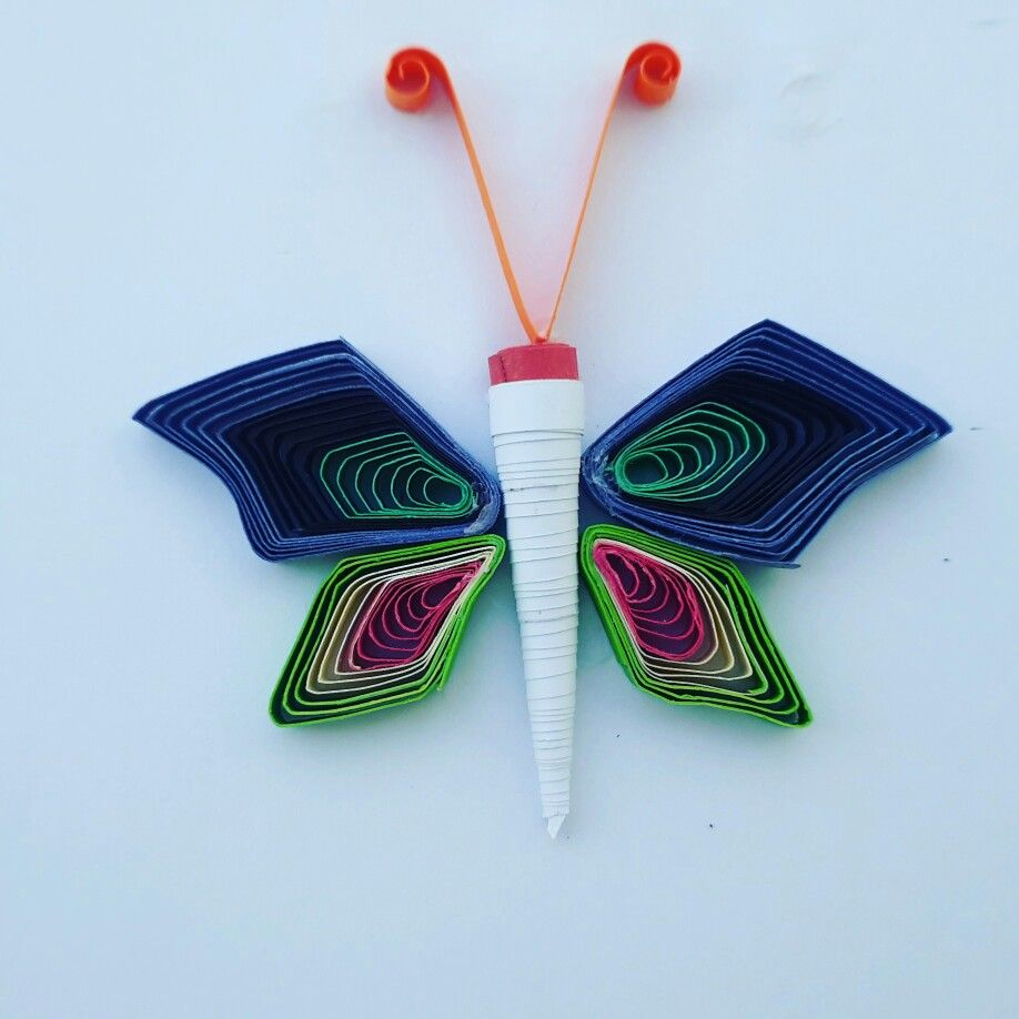 quilling greeting card of butterfly