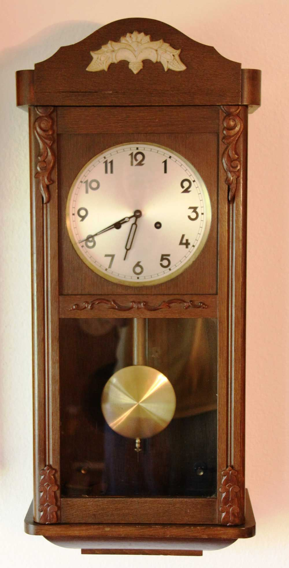 Typical german wall box clock not particularly collectable description from - Wall mounted grandfather clock ...