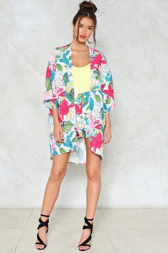 Floral We Know Crepe Kimono