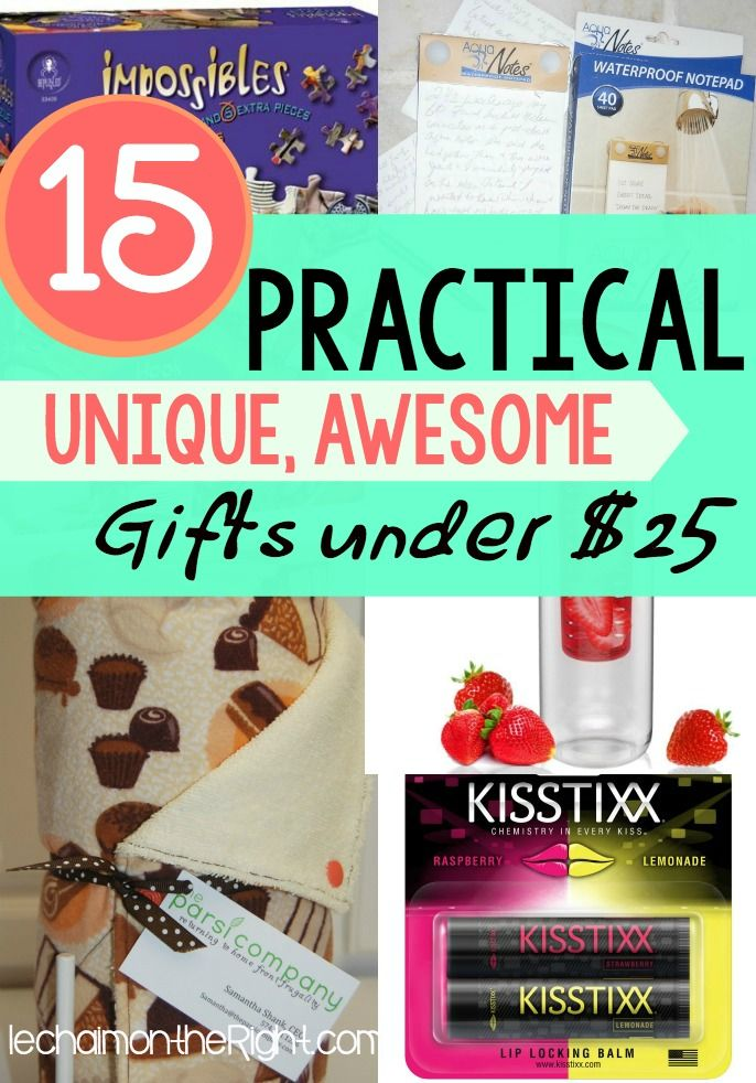 15 Practical Unique Non-Cheesy Gifts Under $25 | Thrifty Thursday ...