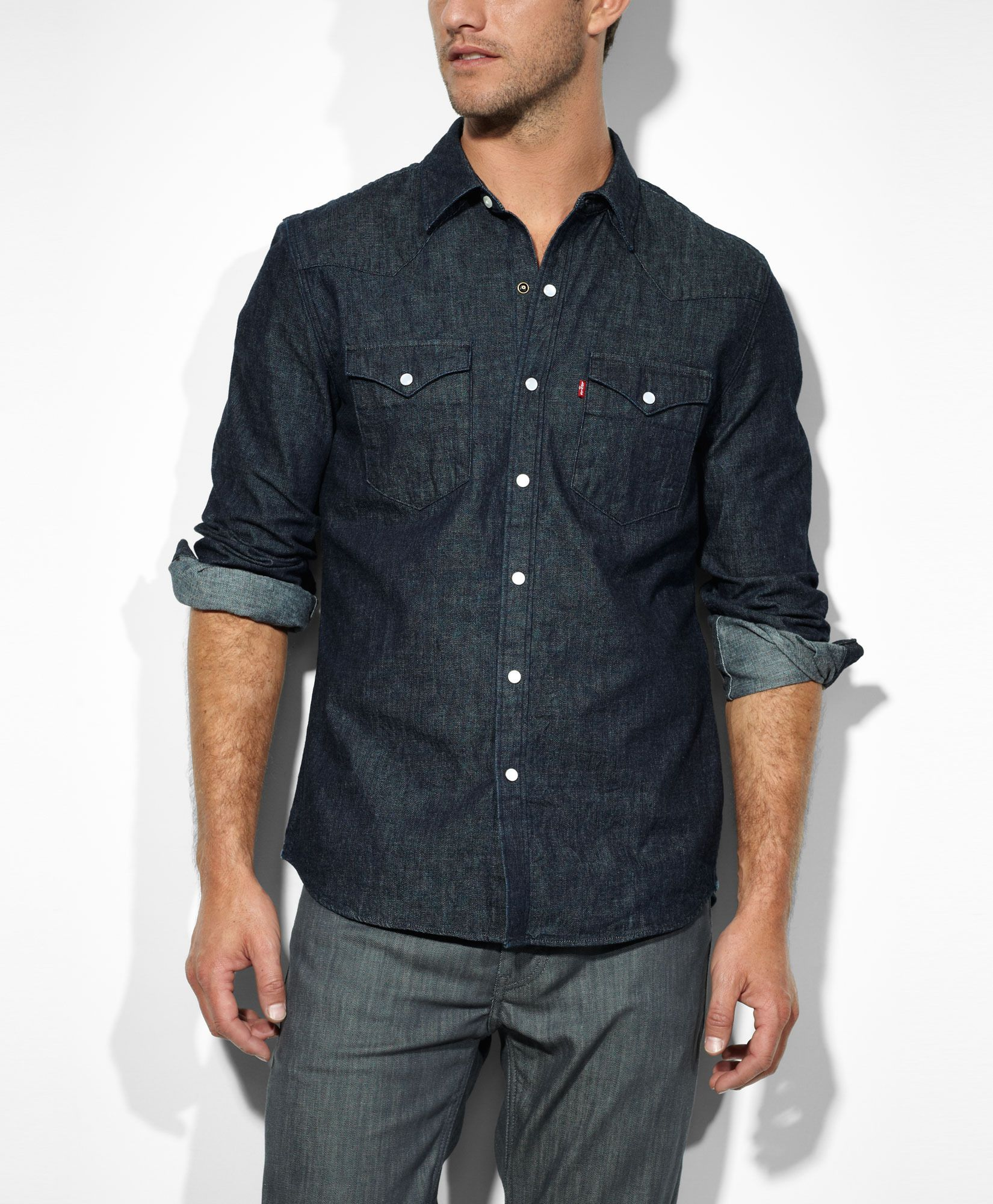 black denim shirt levis