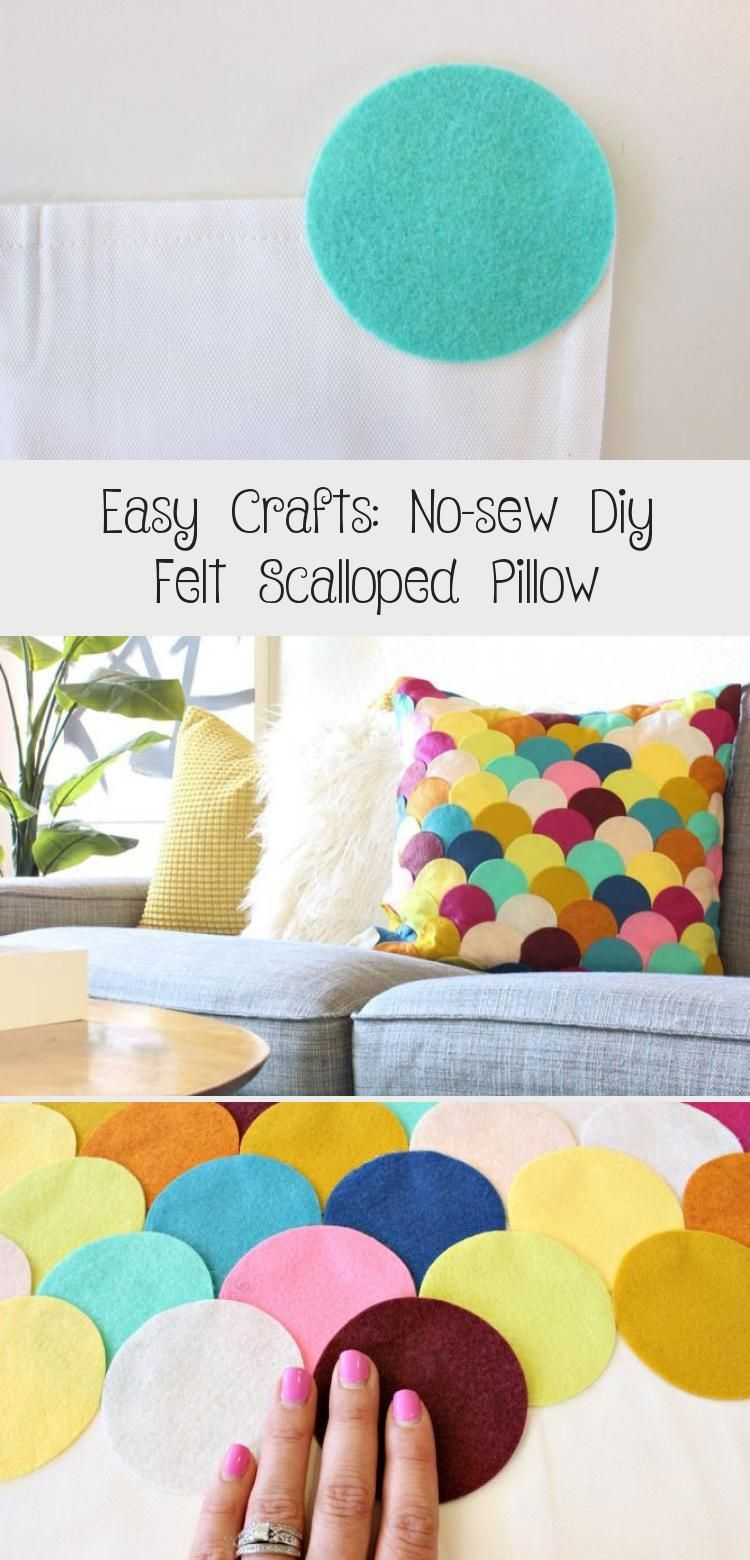 DIY Felt Scalloped Pillow Love that