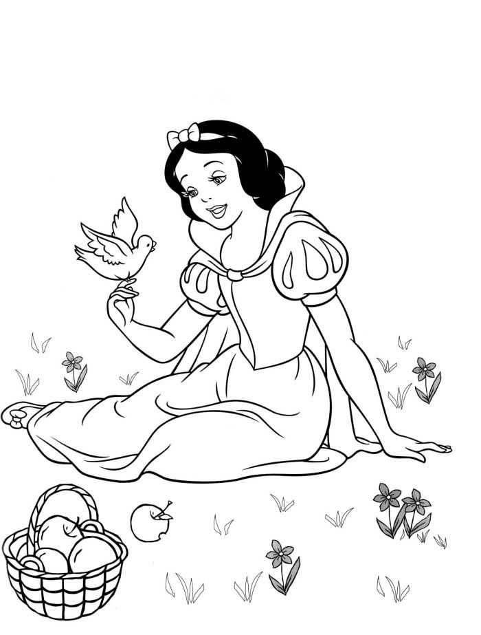 Disney Snow White Coloring Pages To Print snow white
