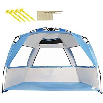 Zomake Beach Tent Large Beach Shelter 4 People With Sun
