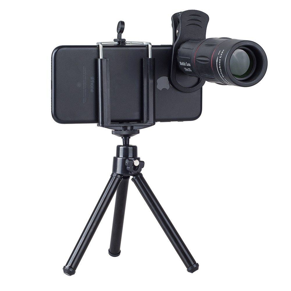 Universal 18x optical zoom telescope camera lens for