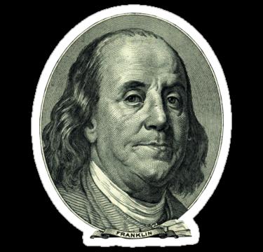 Ben Franklin Hundred Dollar Bill Sticker By Thesamba Benjamin Franklin Dollar Bill Franklin