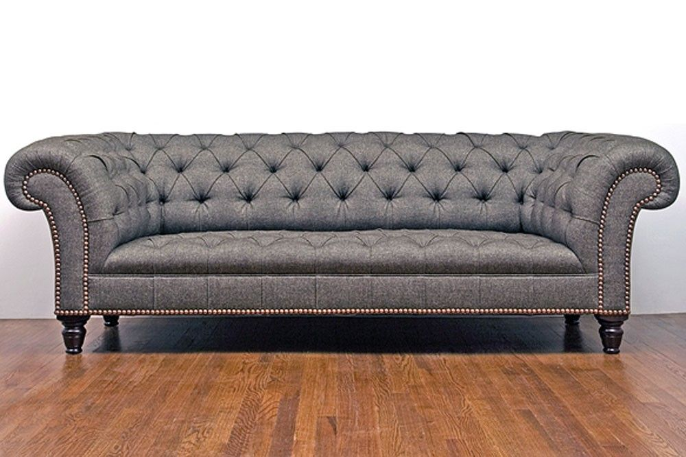 Tufted Sofa With Rolled Arms Settee Chesterfield Sofas Victorian