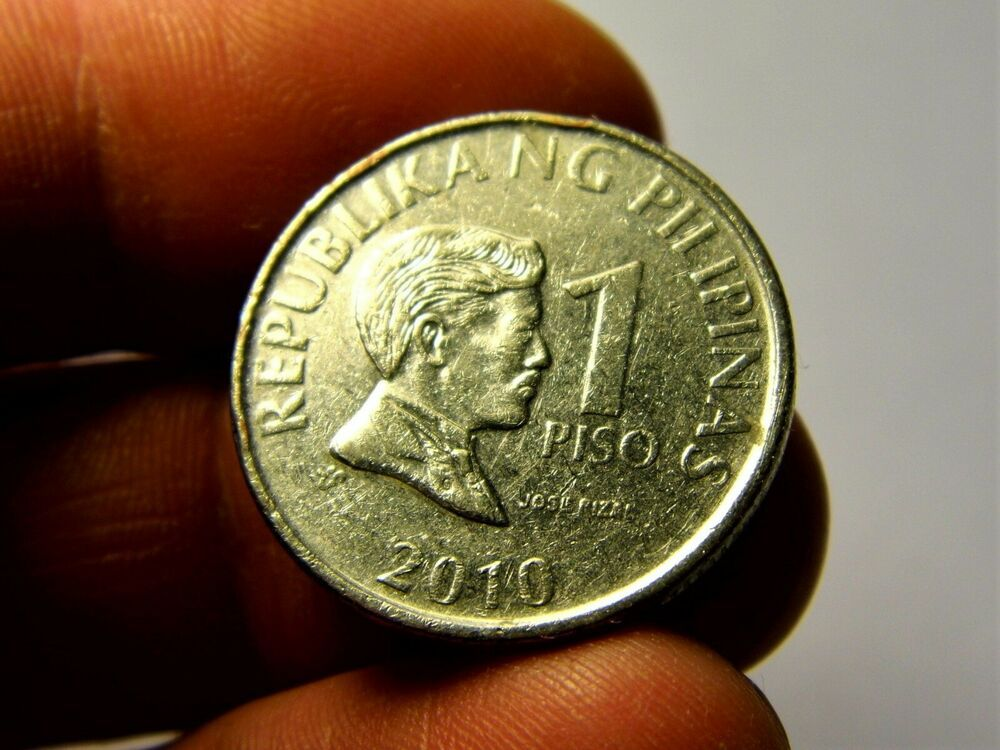 Philippines 1 piso 2010 year collectible coin money for