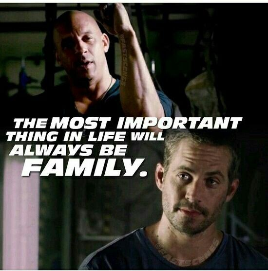 Fast And Furious Tattoo Quotes Quotesgram: The Most Important Thing In Life Will Always Be Family