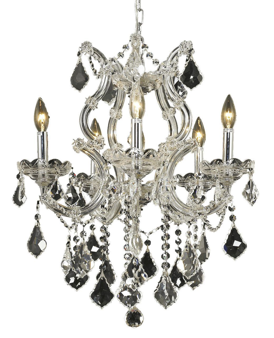 Maria theresa 6 light crystal clear chandelier in chrome finish maria theresa 6 light crystal clear chandelier in chrome finish 2800d20cec aloadofball Images