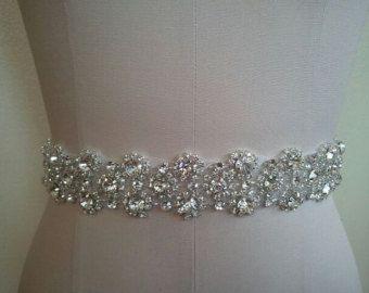 Wedding Belt Bridal Belt Sash Belt Crystal by LucyBridalBoutique