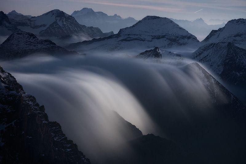 Rivers of Clouds at Moonlight by RobertoBertero on deviantART