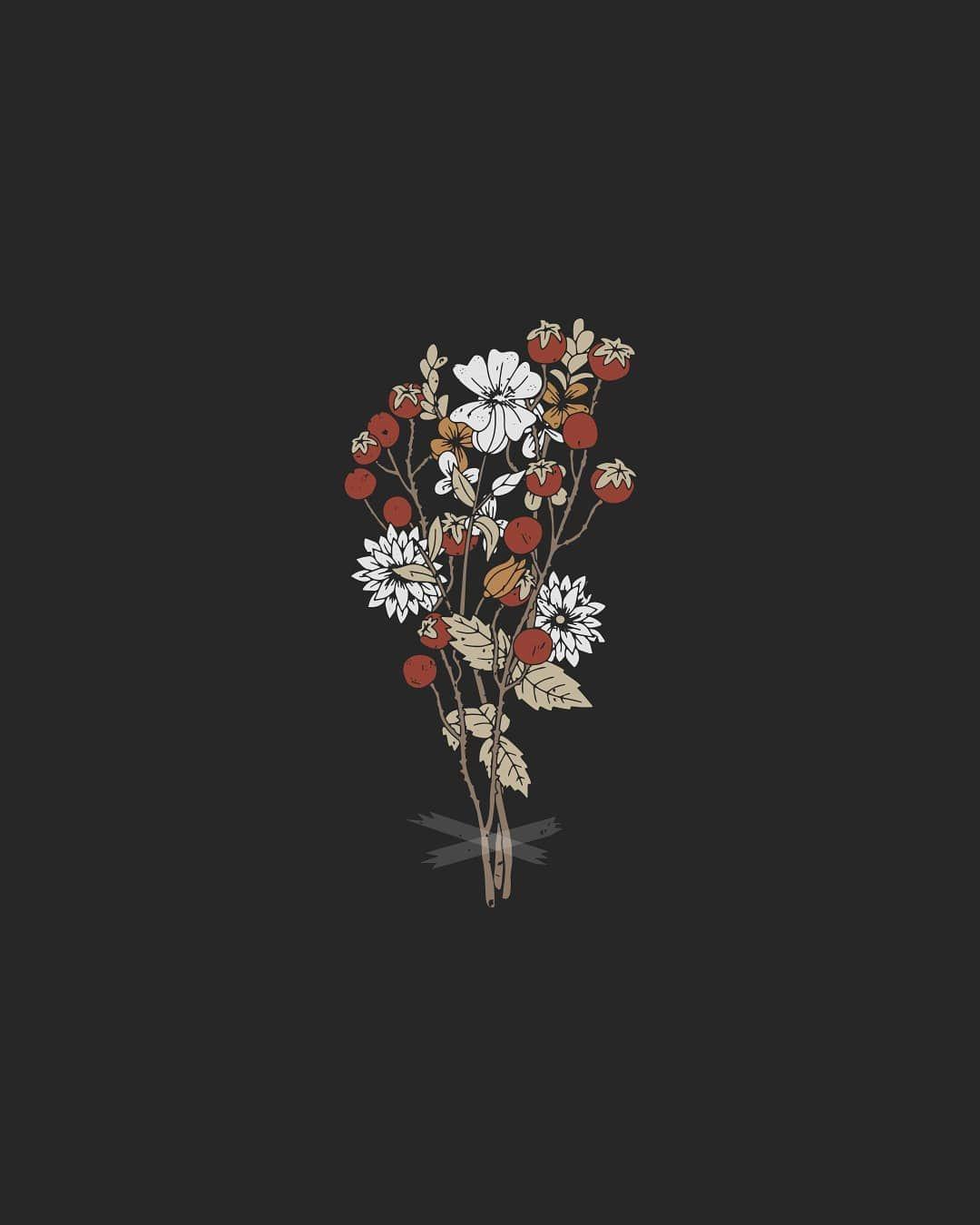 Flowers Grow Out Of Dark Moments Love Doodle Weedingday Instaart Flowerstagram Vintagefashion Hipster Phone Wallpaper Minimalist Wallpaper Dark Flowers