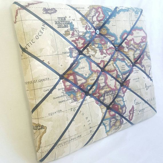 Large world map fabric memo board notice board pin board ready large world map fabric memo board notice board pin board ready for dispatch gumiabroncs Images