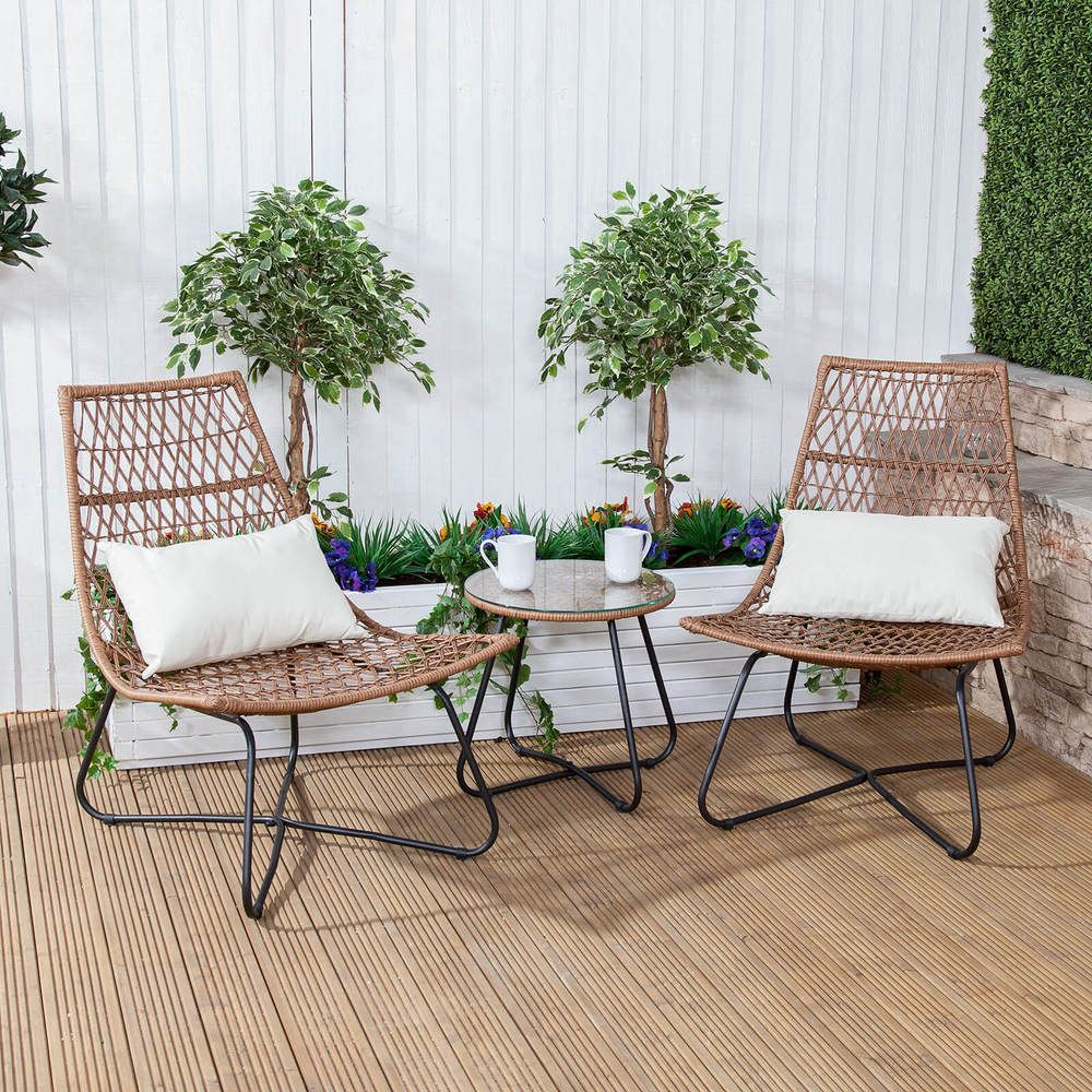 Garden Poly Rattan Coffee Side Table Outdoor Conservatory Patio Furniture NEW