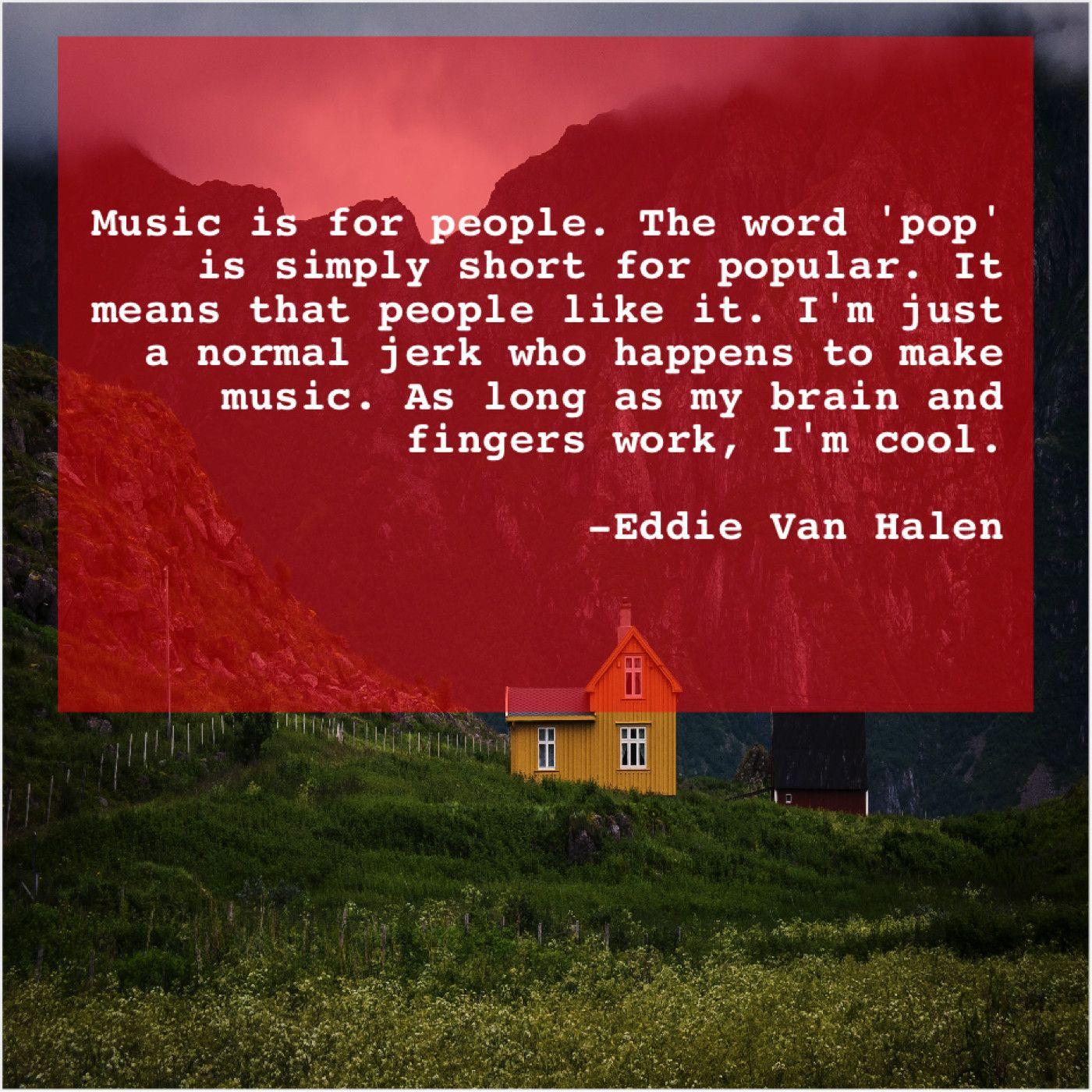 Eddie Van Halen Music Is For People The Barbara Walters George Carlin Moira Kelly