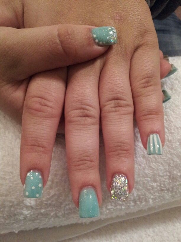 Tammy Taylor nail product. Custom color blending. Glitter slivers ...
