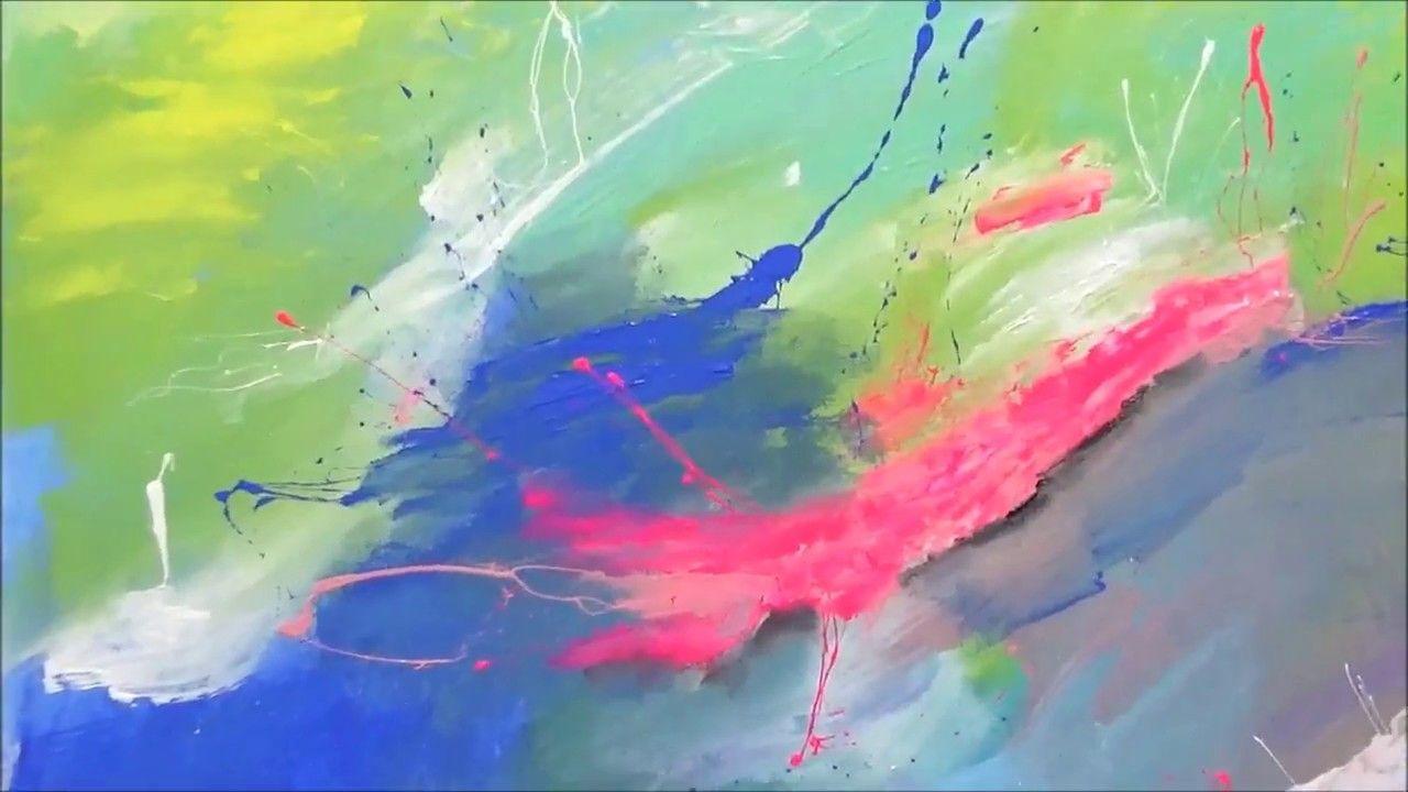 La pintura abstracta / pintando con Acrílicos / Abstracto 14 | Jose ...
