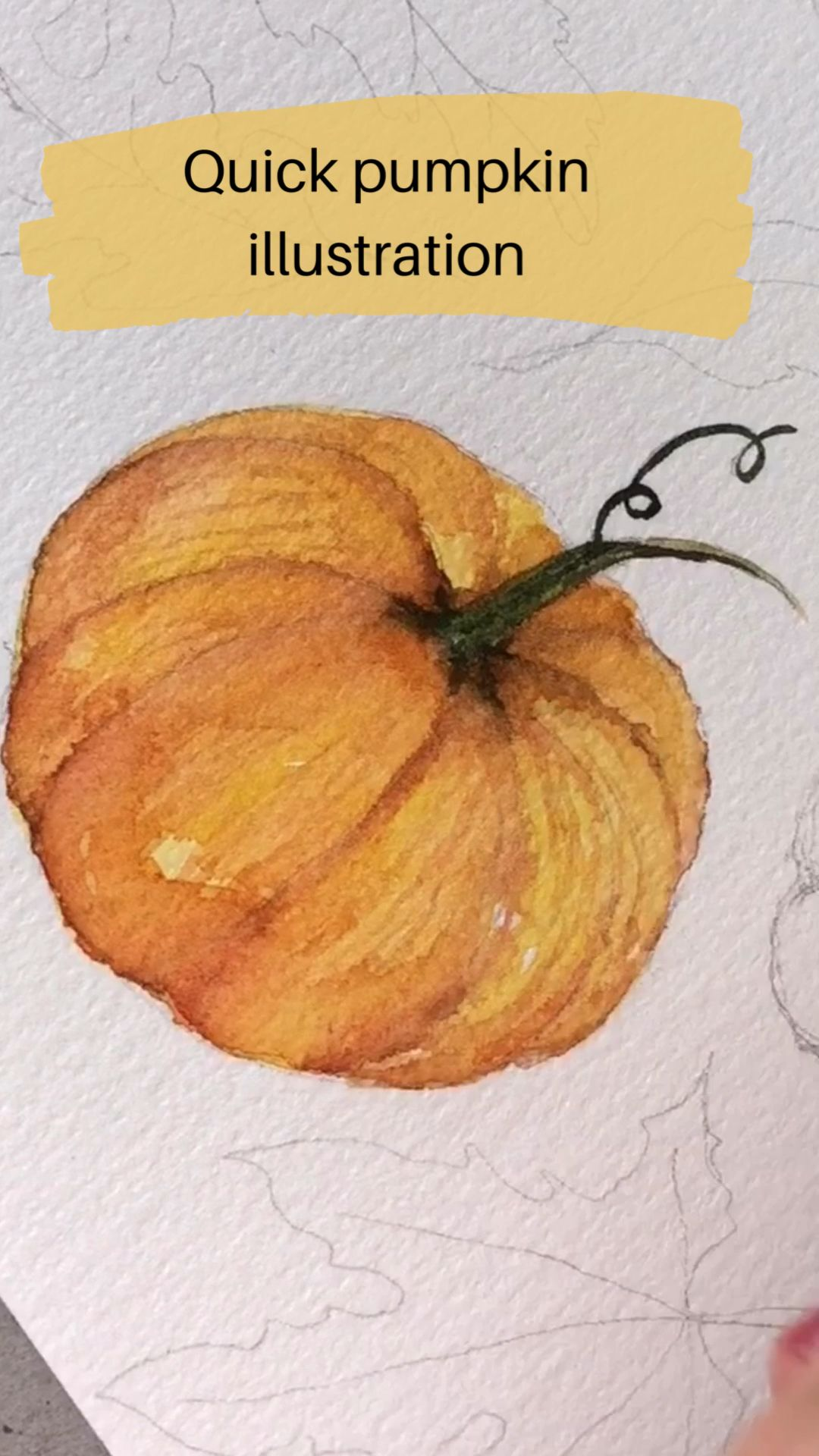 Watercolor Pumpkin Illustration