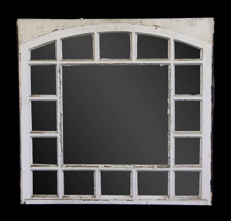 Reclaimed White 17 Pane Window Reclaimed Windows Windows Arched Windows