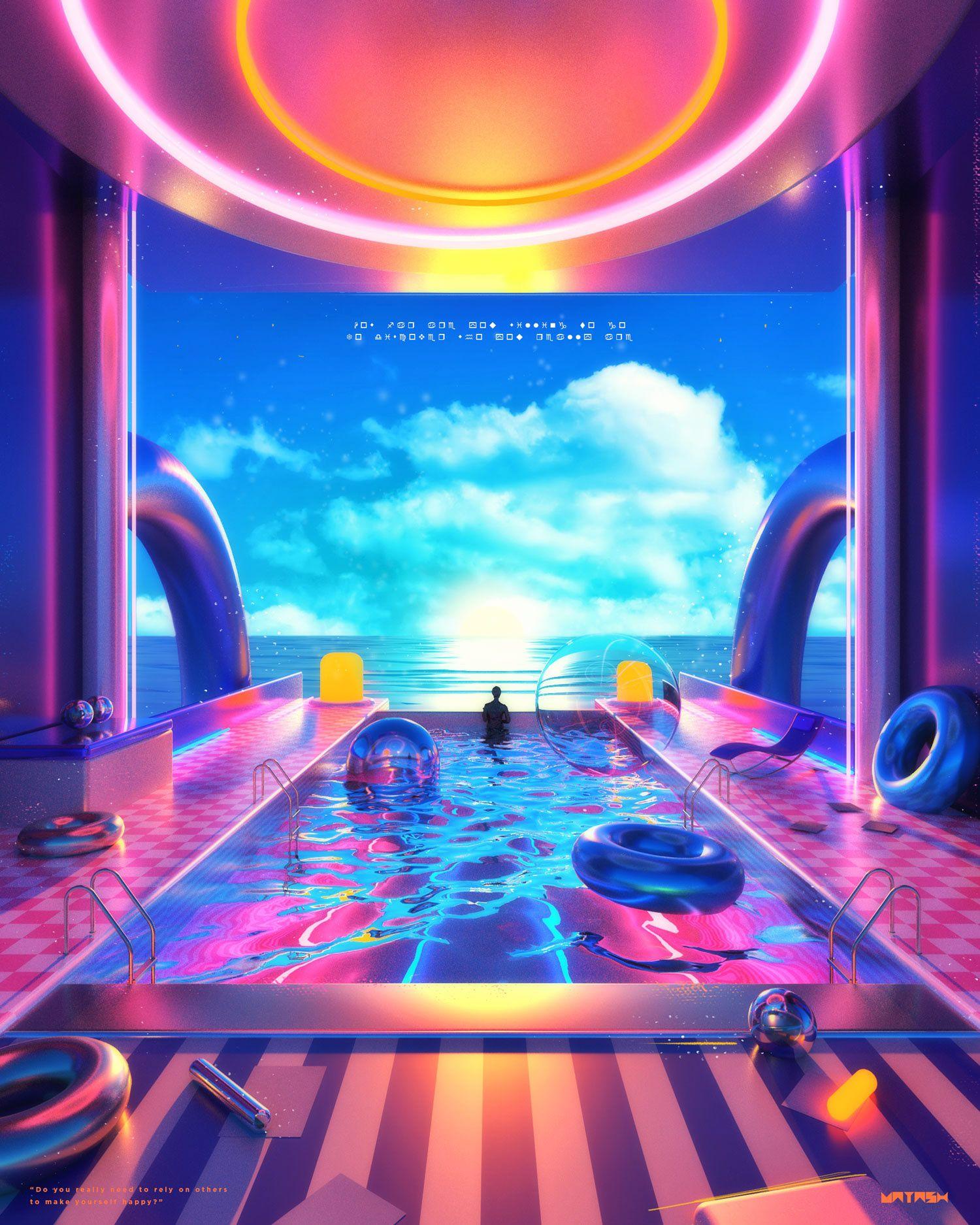 Space Escape 2.0 on Behance Neon aesthetic, Retro