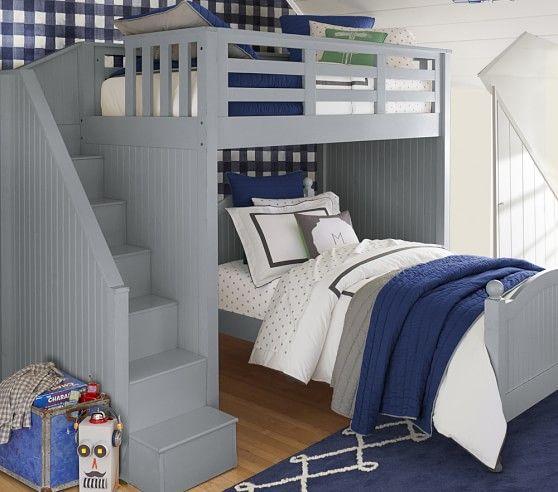 Catalina Stair Loft Bed & Lower Bed Set | Habitaciones niña