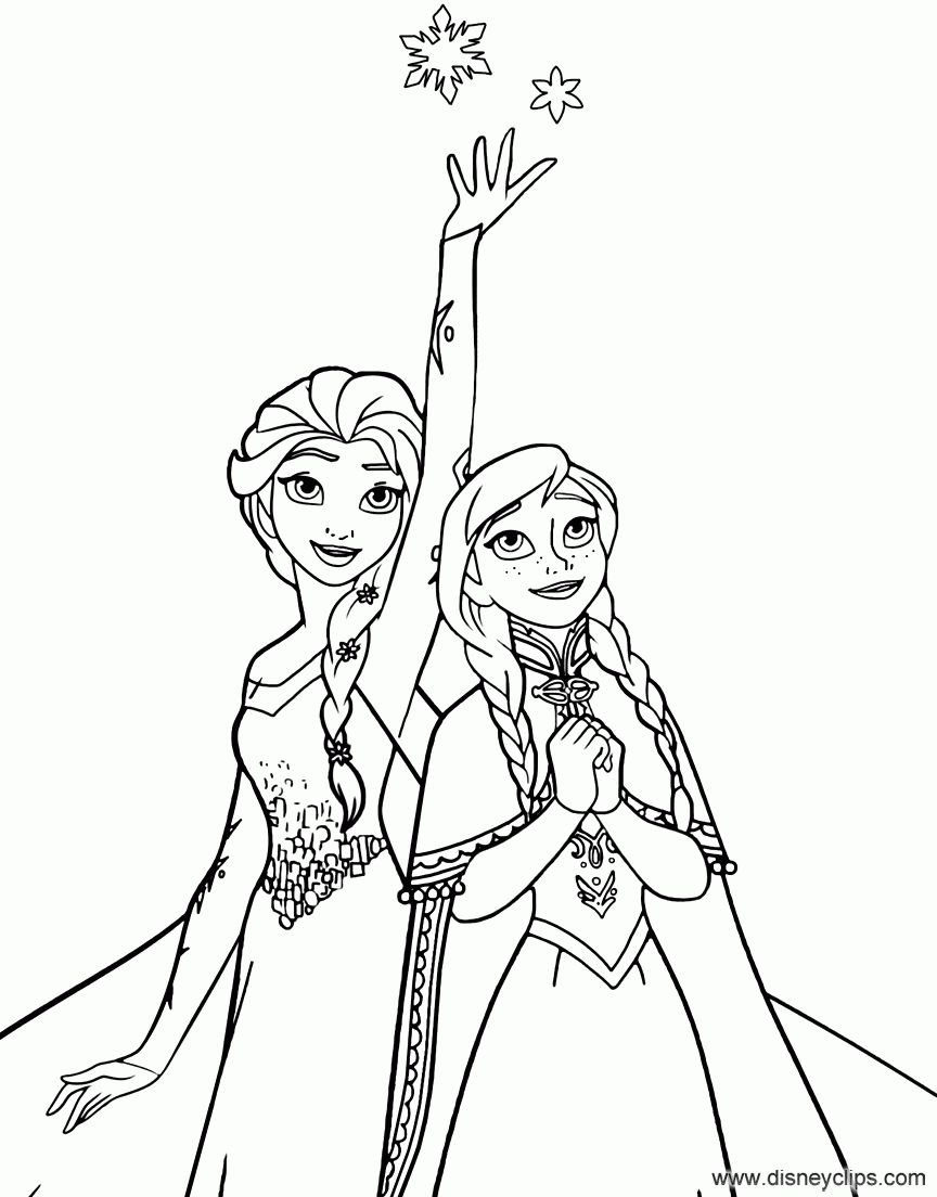 Elsa Magic Coloring Page Раскраски, Шаблоны трафаретов