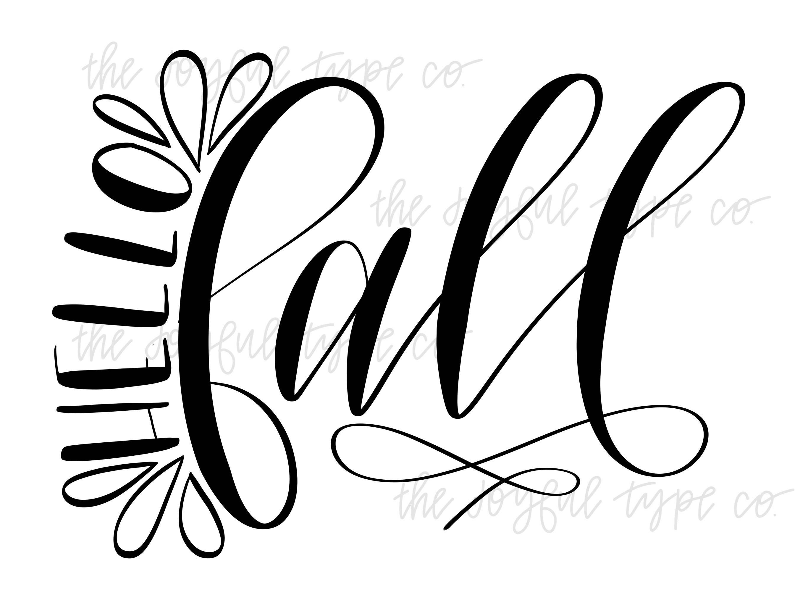 Hello Fall / Silhouette Designs / Cricut SVG Design