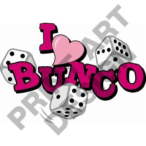 bunco dice game print art vector clipart digital scrapbooking rh pinterest com bunco clip art designs bunco clip art free downloads