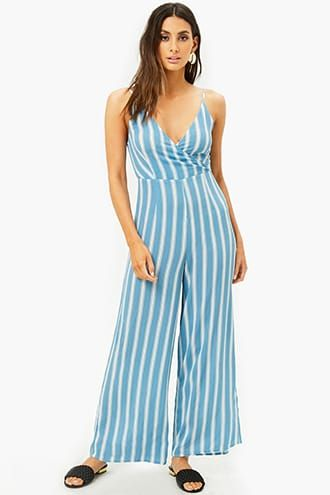 9e9f1a2ba7ca Striped Wide-Leg Jumpsuit