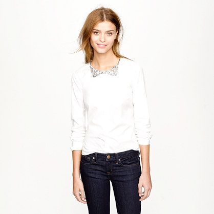 Collection crystal necklace shirt