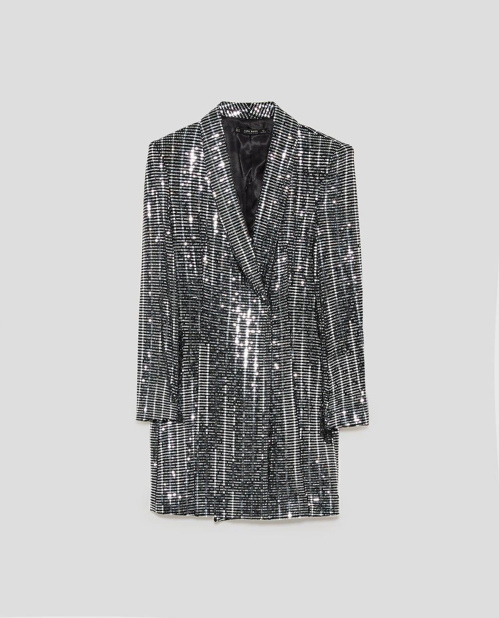 835f969f METALLIC BLAZER DRESS-View all-DRESSES-WOMAN | ZARA United States ...